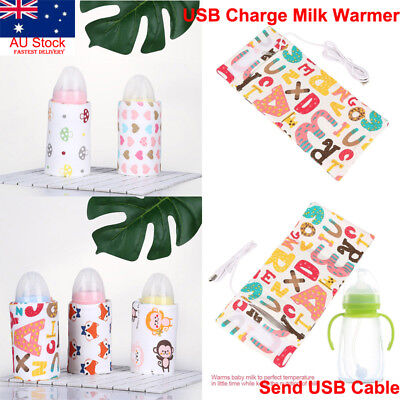 AU USB Portable Baby Infant Nursing Bottle Feeding Protection Bag Heater Warmer