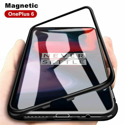 360 Full Cover Magnetic Absorption Case Metal Bumper For OnePlus 6 One Plus 1+ 6