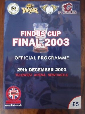 Findus Cup Final 2003 Ice Hockey - Official Programme