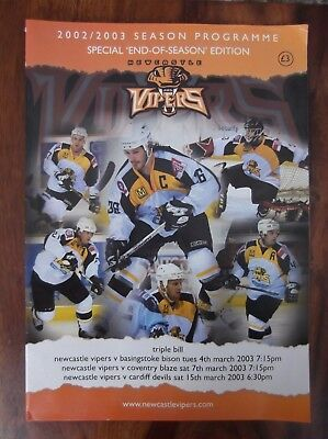 Newcatle Vipers Ice Hockey Match Programme - Special End Of Season Special
