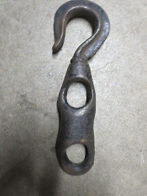 Vintage lifting Hook for Rope Antique  steampunk