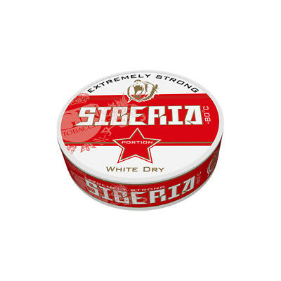 Halbe Stange (5 Dosen)  Siberia -80° Extremely Strong Chewing Bags / Snus