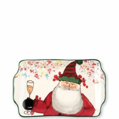 Vietri Old St. Nick 2018 Limited Edition Rectangular Plate
