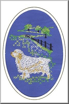 Clumber Spaniel Birthday Card or Notecard Embroidered by Dogmania