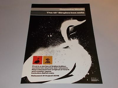 """DEPECHE MODE 'THE 12"""" SINGLES BOX SETS' POSTER (Official Promo Poster) (New)"""