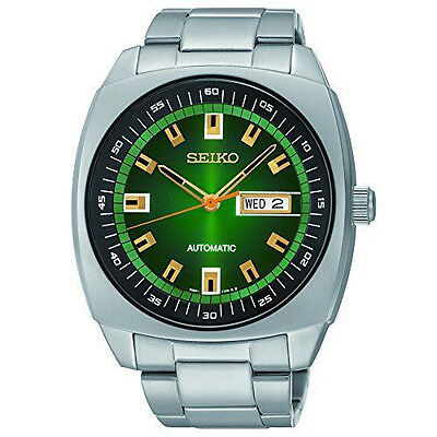 New Seiko SNKM97 Recraft Green Dial Stainless Steel Automatic Men's Watch