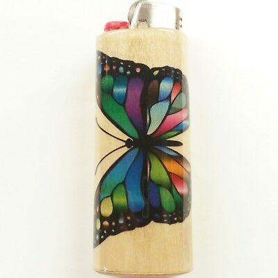 Butterfly Lighter Case Holder Sleeve Cover Butterflies Fits Bic Lighters