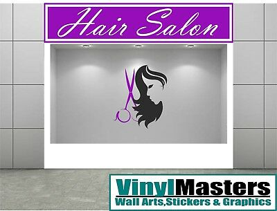 hair beauty salon Front Sign Writing Large Custom Signage Vinyl Stickers  Signs
