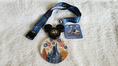 Walt Disney World Magic Kingdom 45th Anniversary Light Up Lanyard NEW NWT WDW