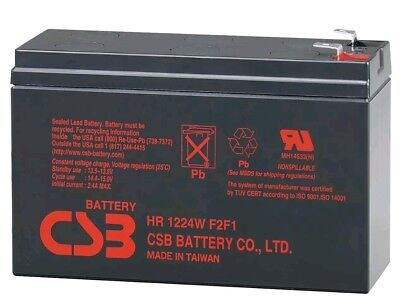 CSB HR1224W F2F1 12V 24W High Rate Discharge Lead Acid Battery For UPS Systems
