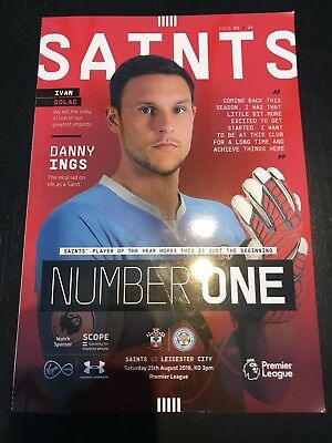 Saints V Leicester City  2018 *OFFICIAL PROGRAMME*