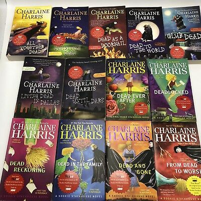 Lot of 13 #1-#13 Sookie Stackhouse True Blood Complete Series Matched Set Books
