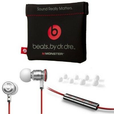 Whit / Red urBeats by Dr Dre Earbuds with Mic In-Ear Beats Headphones