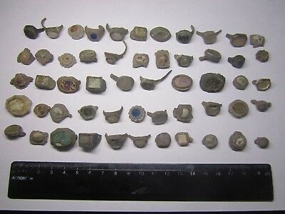 Ancient rings.Metal detector finds (54  fragment's) 100% original