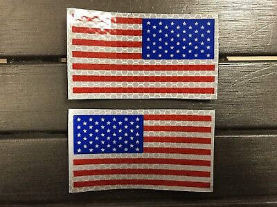 Set of 2 IR American Flag Patches