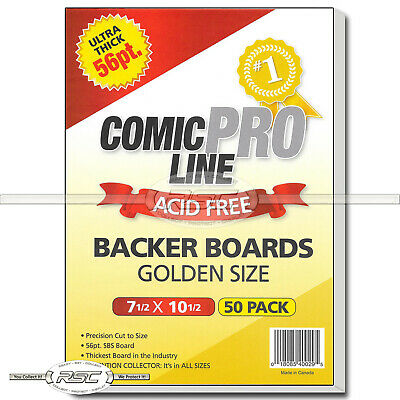 "50 - Comic Pro Line Golden Age 56pt Premium Backer Boards - 7-1/2"" x 10-1/2"""