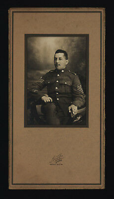 Cabinet Photo of Canadian W.W. One Soldier in Uniform - Presque Isle, ME