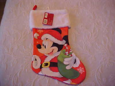 Disney Mickey Mouse Christmas Stocking *new With Tag*