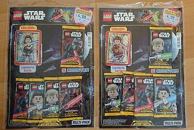 2x OVP Lego Star Wars Trading Card Collection Serie 1 Multi-Pack Mit Je einer