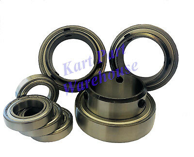 TONY KART BEARING KIT: (3) SB208-50zz C4 and (4) Front-Wheel Bearings FREE SPIN