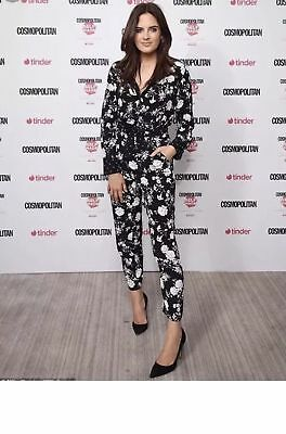 1c552182fceb ZARA BLACK FLORAL Cropped Lace Jumpsuit Size Small BNWT ...