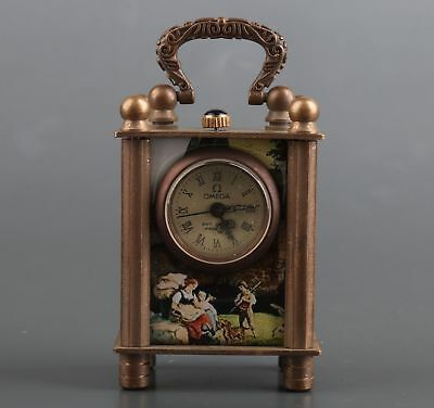 Collection Vintage Bronze Horologe Watch Clocks Statue Adorn Old Mechanical