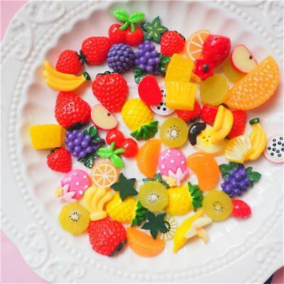 30 PSC Slime Charms Mixed Fruit Series Beads For Kid Gift Birthday DIY Party