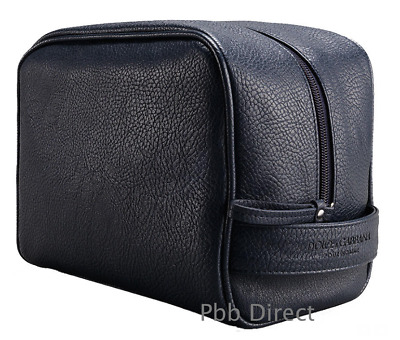 D & G Toiletry Wash Bag Dolce Gabbana Mens Navy Shave Travel Gym Pouch Authentic