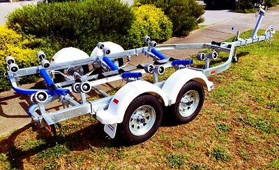 Precision Boat Trailer Drive On Galvanised 5.6m  WITH BRAKES.. TANDEM AXLE