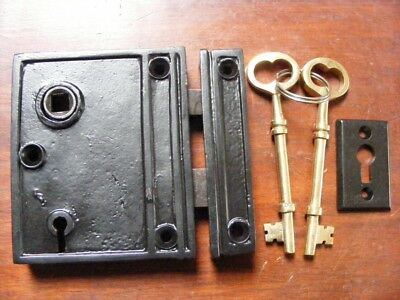 french style,victorian,compact rim lock and keeper.with keys TH 2011
