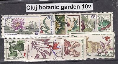 Roumania 5 sets of 34 fine used stamps.Flowers ,Ideal for collection.