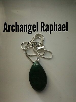 Code 481 Malachite n pyrite Infused n charged Necklace Archangel Raphael