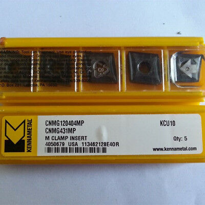 5 x Kennametal Indexable Inserts Cnmg 120408MP 432MP KCU10 Carbide P M K N S