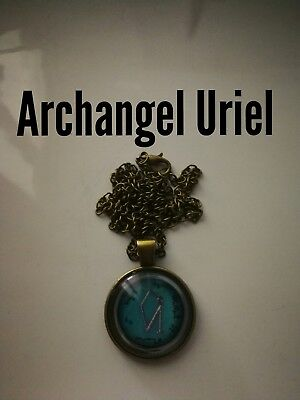 Code 481 Archangel Uriel Channel his Power sigils Infused n charged Necklace
