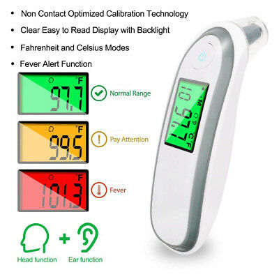 Infrared Digital Termometer Non-Contact Forehead Baby Body Fever Thermometer FM8