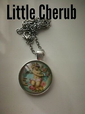 Code 432 Little Cherub Infused Necklace Holy Communion Christmas Confirmation