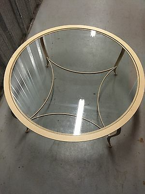 Charleston Forge Glass Round Top & Wrought Iron Table Nice!