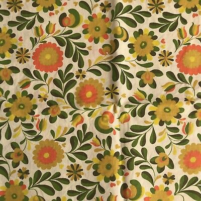 Marcus Brothers Textile Group FABRIC vintage retro material 1960s 1970s Floral