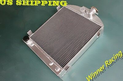 """aluminum alloy radiator for Ford 1932 hot rod 3"""" chopped w/FORD 305 V8 engine"""