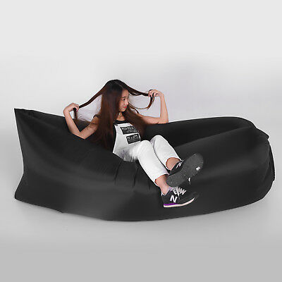 Outdoor Lazy Inflatable Couch Air Sleeping Sofa Lounger Camping Bed Portable