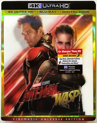 Marvel Ant-Man And The Wasp 4K Ultra Hd 1 Disc Only + Lenticular Slipcover Noart