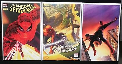 AMAZING SPIDER-MAN #1 ALEX ROSS - 3 COVER SET (SDCC 2018 Exclusive)