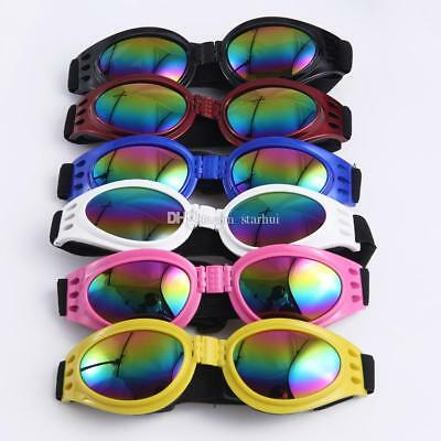 Dog goggles- Foldable, Waterproof, UV protection Sunglasses Med/Lg. FREE SHIP