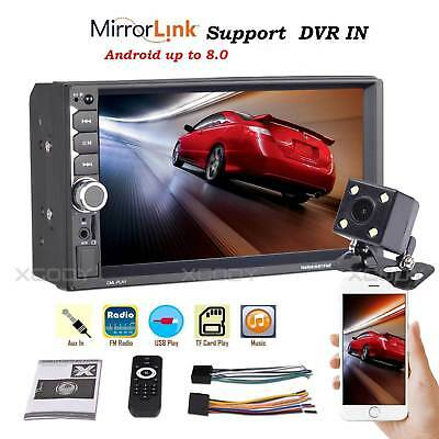 "2 DIN 7"" Car Stereo Radio Bluetooth MP5 Player Dual USB AUX + Rear Camera 7036"