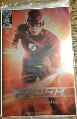 2018 Nycc New York Comic Con Exclusive The Flash # 55 Silver Foil Variant