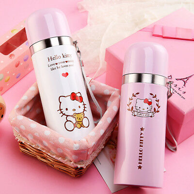 Hello Kitty Stainless Steel Vacuum Flask Thermos Water Bottle Travel Mug Cup US
