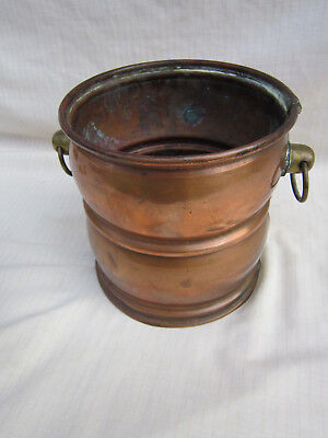 Copper Pot Canister Planter Cookware Display Vintage Retro 1970's