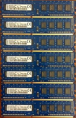8GB Kit (2X4GB) Kingston PC3L 12800 DDR3 1600MHz Desktop Memory  RAM Desktop PC