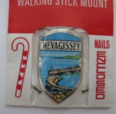 Walking Stick Badge  Sampsons Brand New In Packet  Mevagissey