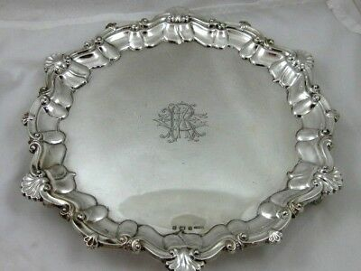 Antique solid silver  SMALL SALVER  Hallmarked BIRMINGHAM 1900